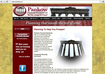 Pankow Financial Solutions Website